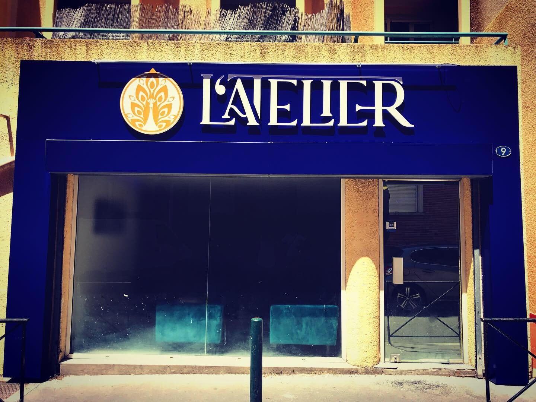 Enseigne et habillage façade restaurant Toulouse