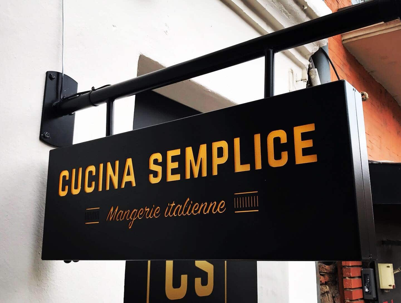 Enseigne restaurant Toulouse