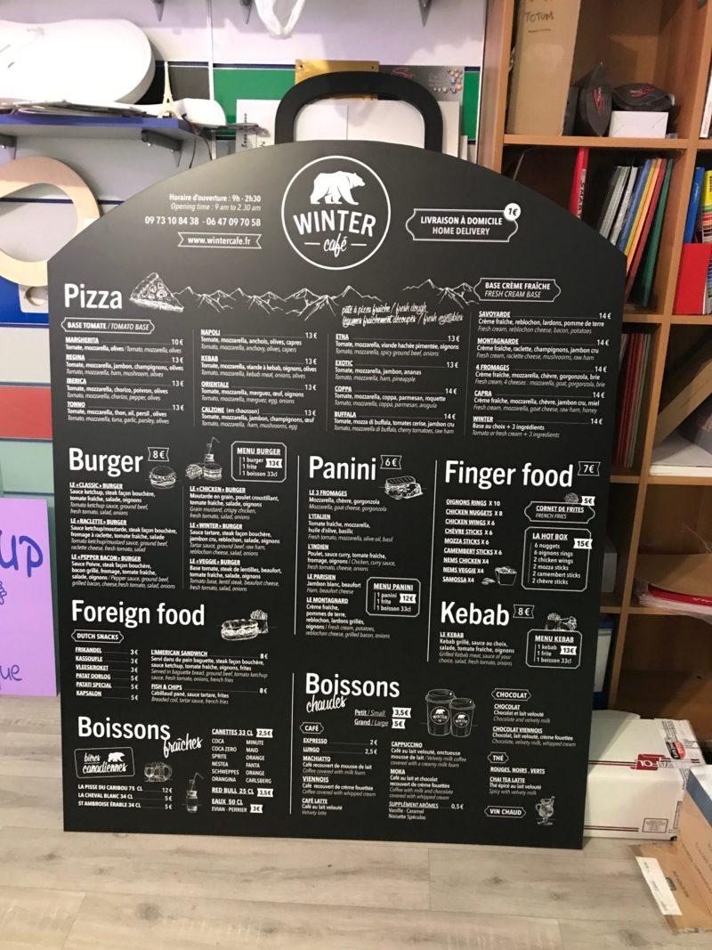 Enseigne panneau menu restaurant Toulouse