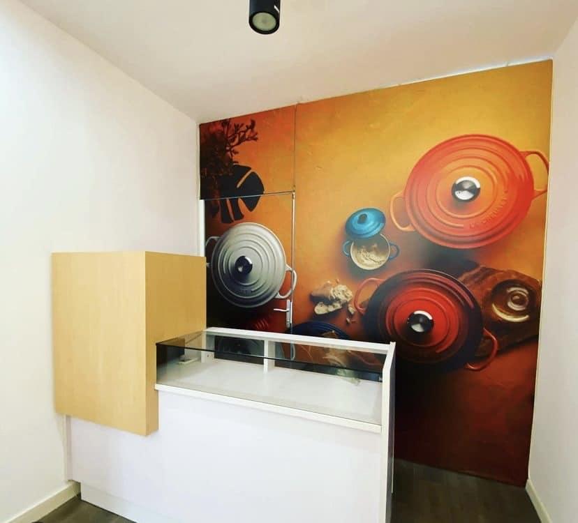 Habillage mural et signalétique