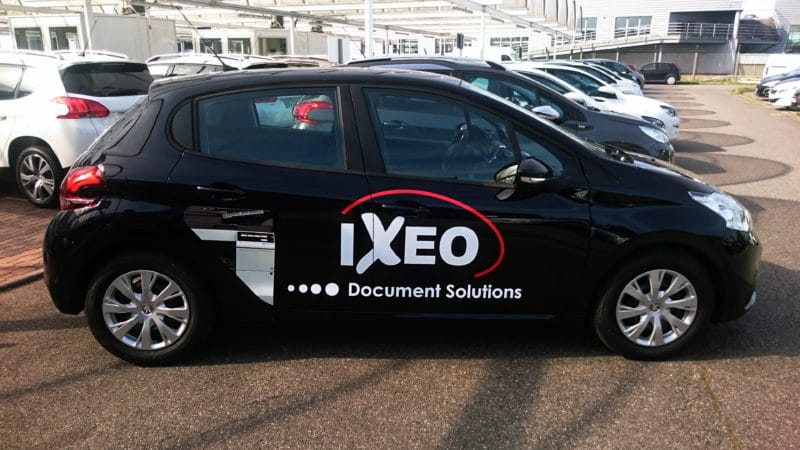 Marquage voiture Toulouse Flocage marquage publicitaire covering IXEO