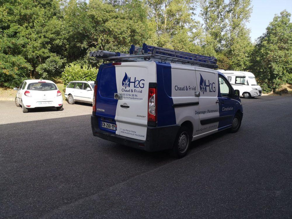 Marquage voiture semi covering Toulouse signalétique