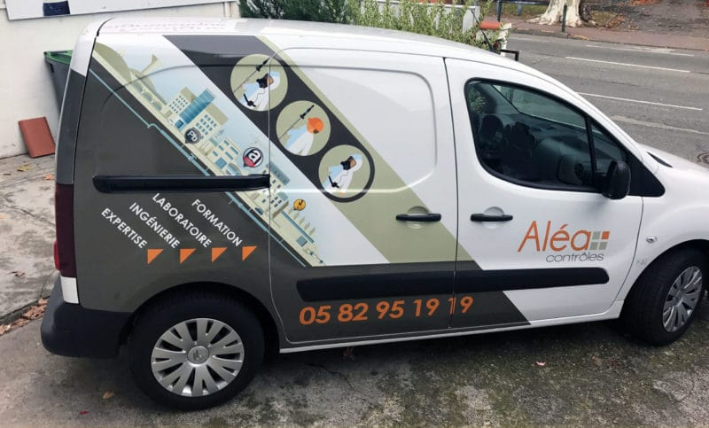 Marquage véhicule utilitaire marquage voiture publicitaire toulouse