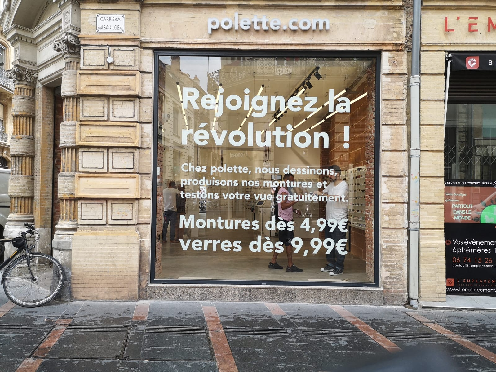Marquage vitrine Polette Toulouse
