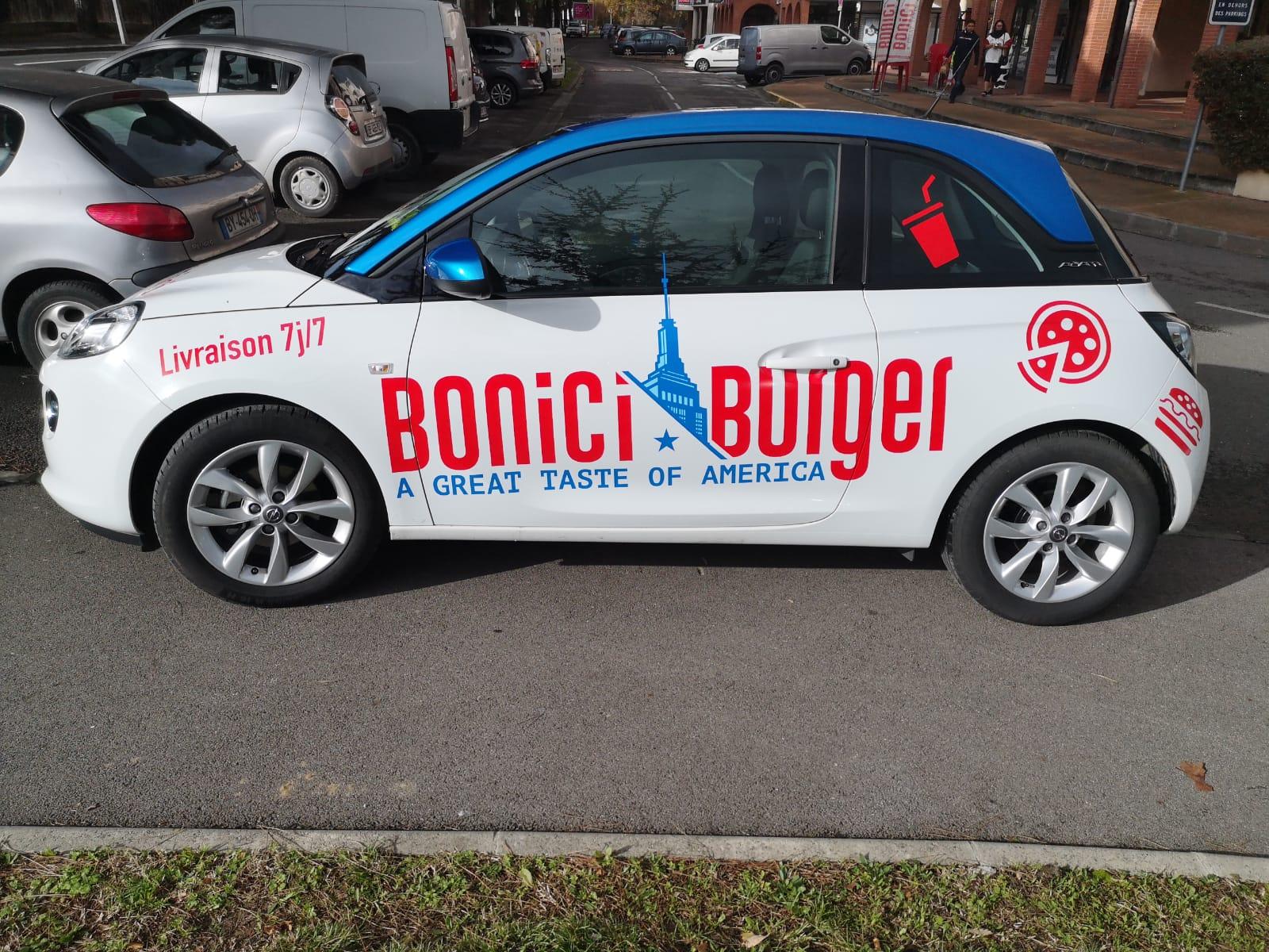 Flocage voiture marquage voiture Toulouse covering Toulouse signalétique Toulouse habillage voiture publicité sur voiture