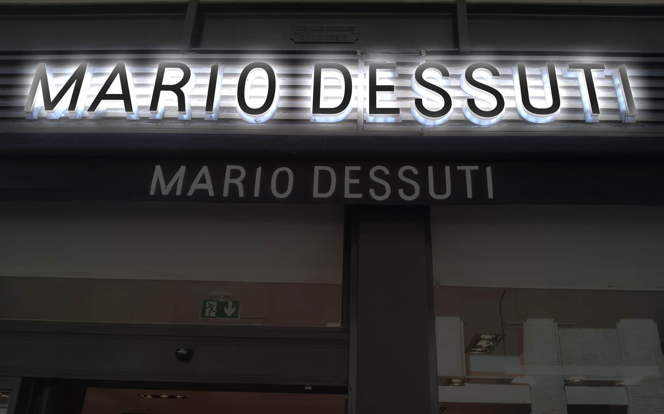 Fabrication d'une enseigne lumineuse led à Toulouse pour Mario Dessuti par Sign'enseigne enseigniste Toulousain