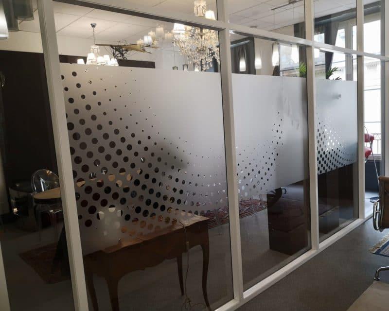 Marquage vitrine flocage vitrophanie