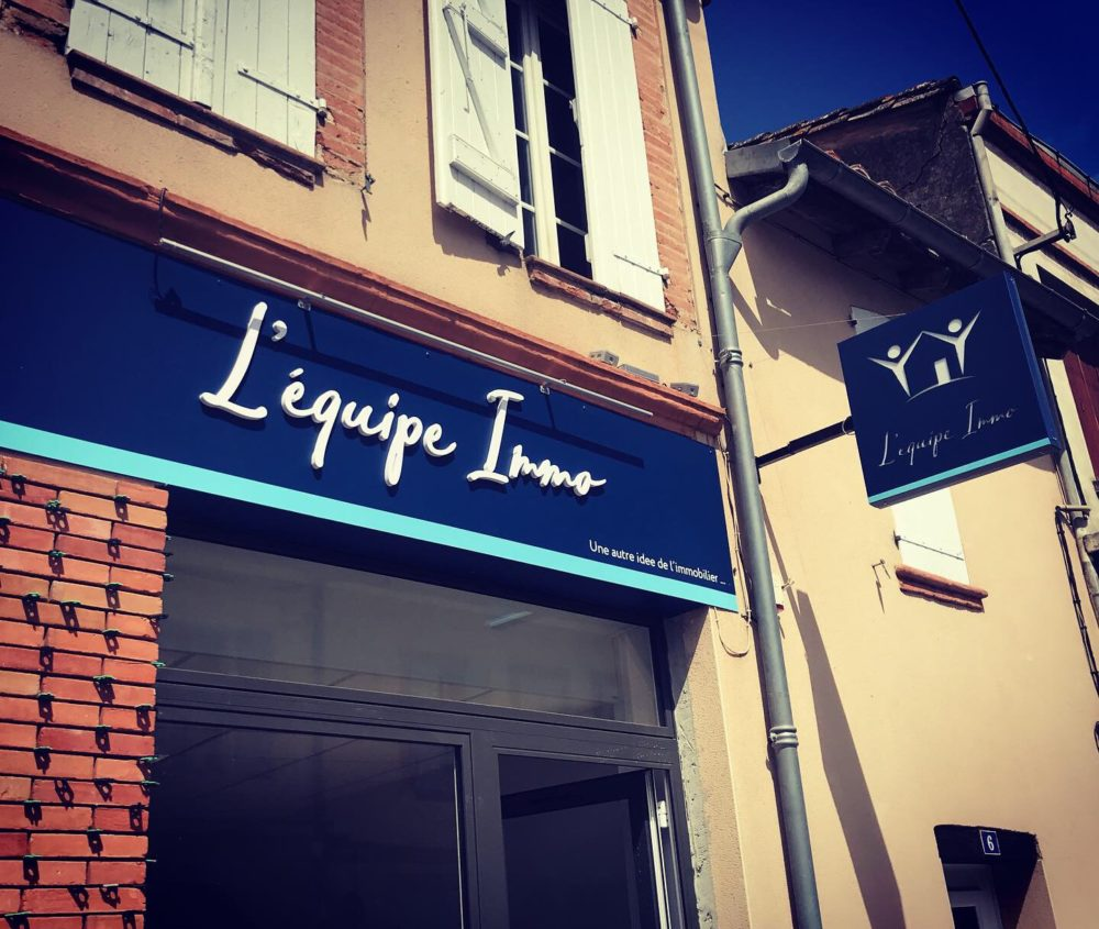 Enseigne agence immobilière Toulouse