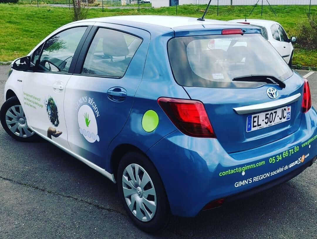 Marquage véhicule Toulouse pour Gimn's enseigne Toulouse Habillage voiture