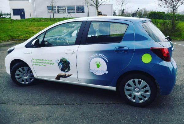 Marquage véhicule Toulouse pour Gimn's enseigne Toulouse