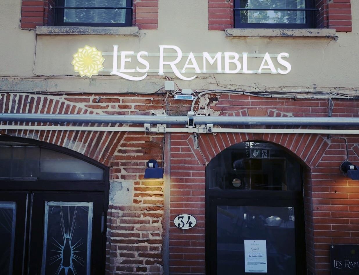 Enseigne Toulouse, devanture et signalétique Hotel Les Ramblas