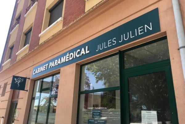 Enseigne pour cabinet médical à Toulouse et Montauban