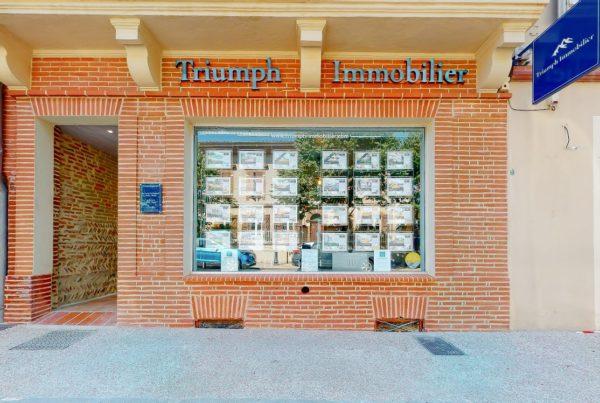 Enseigne lumineuse agence immobilière