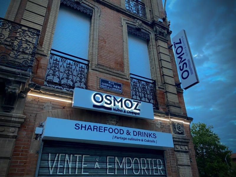 Enseigne Toulouse restaurant néon